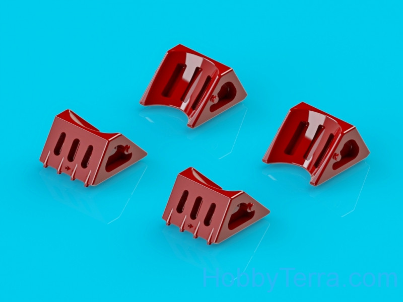 Wheel chocks for An-24, An-26, 4 pcs in a set