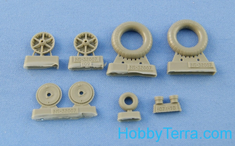 "Northstar Models  32007 Bf.109 B/C/E (early) wheels set. (""Metzeler"" tires)"