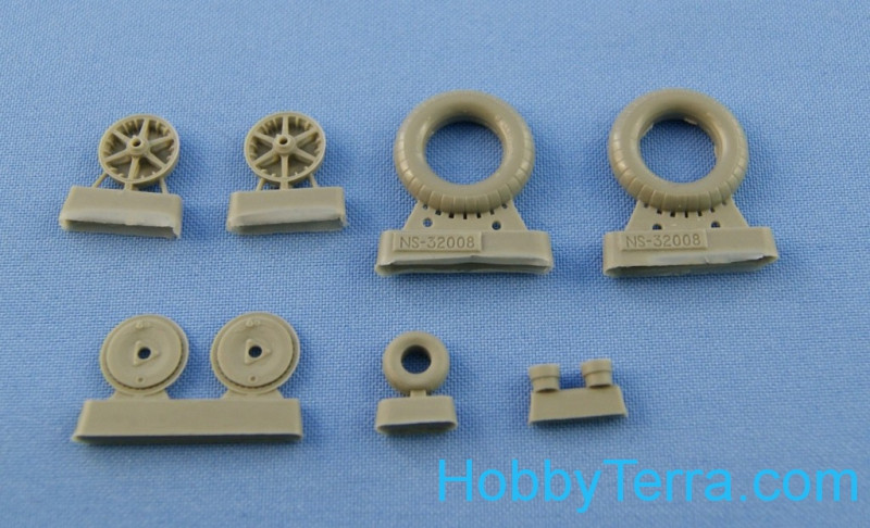 "Bf.109 E-1-E-3 wheels set (""Continental"" tires)"