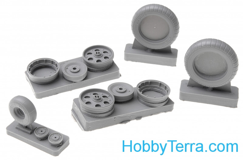 Wheels set 1/32 for Fw.190 A1-A6 - early disk with holes - No mask series