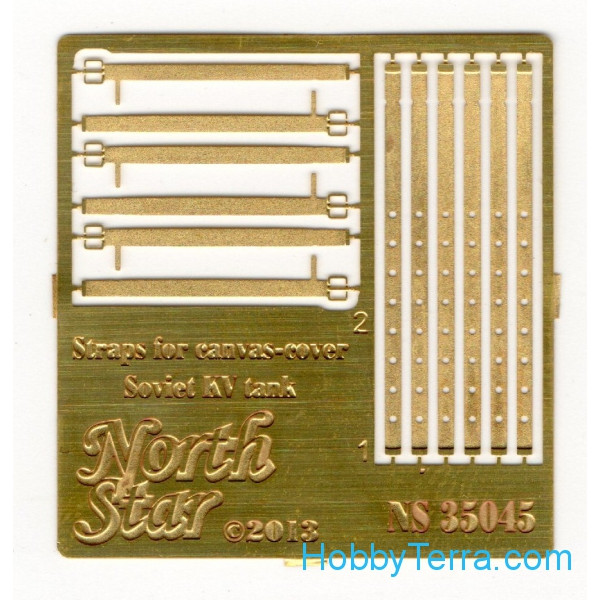 Northstar Models  35045 Photo-etched set 1/35 Straps for canvas-cover Soviet KV tanks