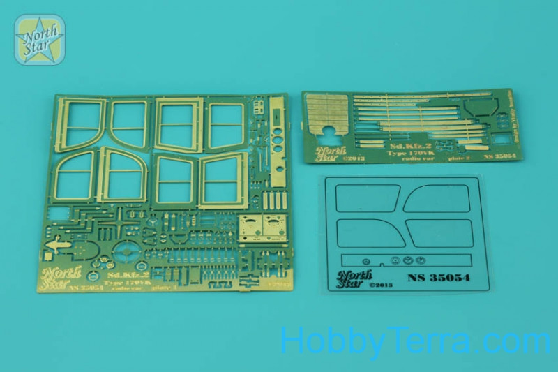 Photo-etched set 1/35 for Sd.Kfz.2 Type 170VK radio car