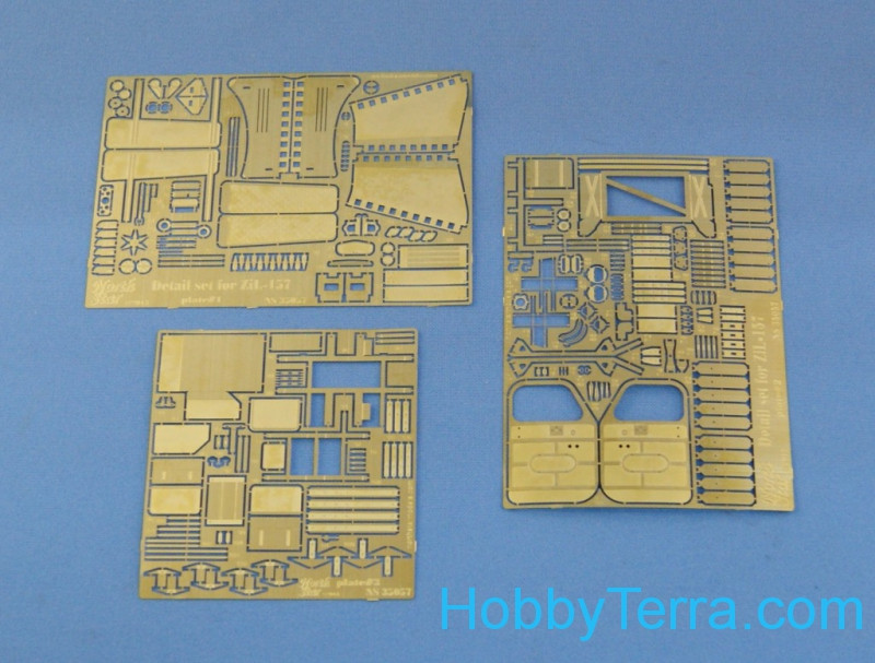 Photo-etched set 1/35 for 6x6 Soviet ZiL-157, for Trumpeter kit