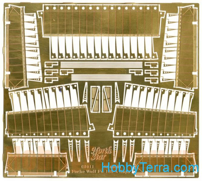 Photo-etched set 1/48 Flaps for Focke Wulf Fw.189
