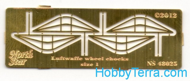 Northstar Models  48025 Wheel chocks of Luftwaffe aircraft (size 1)