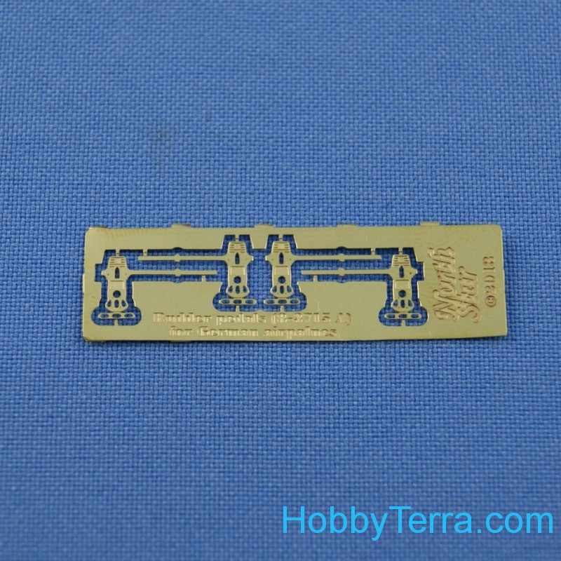 Photo-etched set 1/48 Luftwaffe rudder pedals