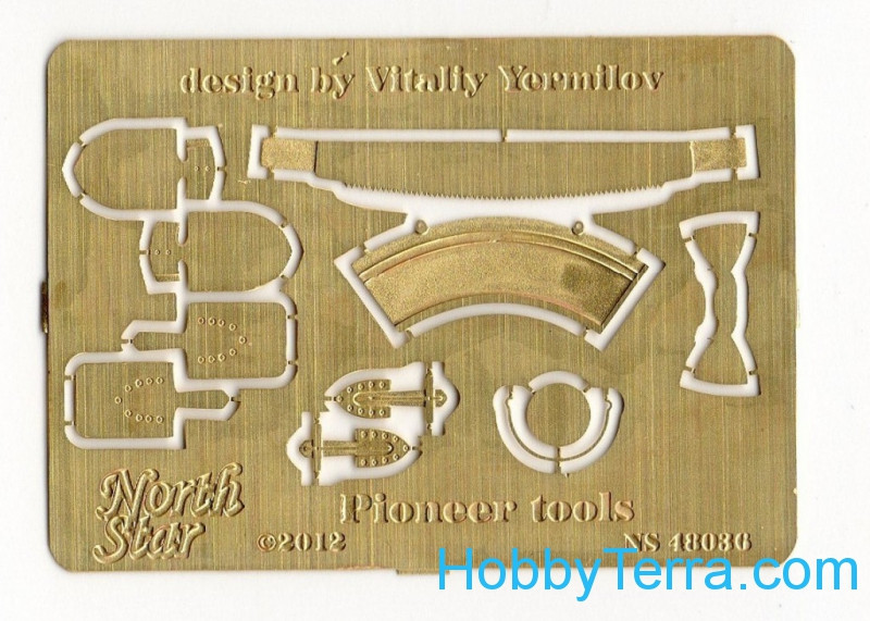 Northstar Models  48036 Photo-etched set 1/48 Pioneer tools