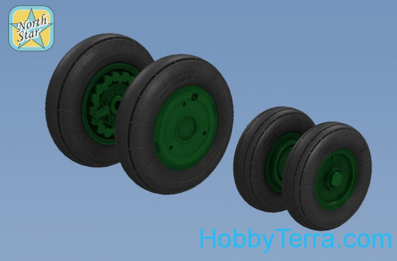 Wheels set 1/48 for Su-15 TM, light series