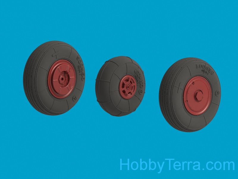 Wheels set 1/48 for YaK-52, no mask series