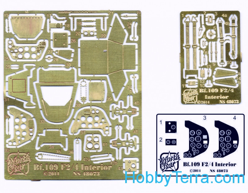 Northstar Models  48073 Photo-etched set 1/48 interior Bf109 F2/F4, for Zvezda kit