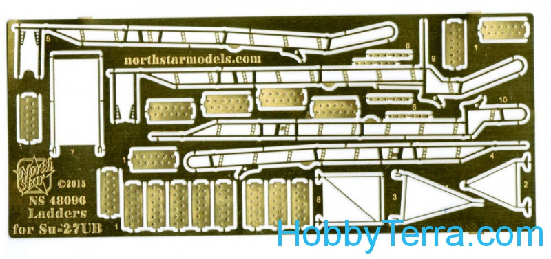 Photo-etched set 1/48 Ladder for Su-27UB fighter