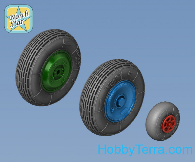 Wheels set 1/48 for Mi-2 Soviet helicopter, no mask series