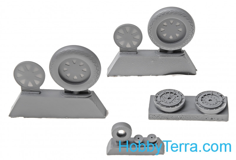 Northstar Models  48120-a Wheels set 1/48 for Vought F4U Corsair - No mask series