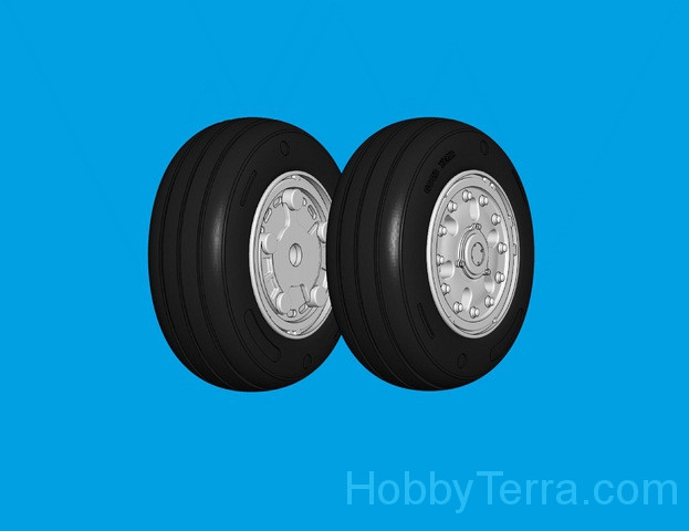 Wheels set 1/72 for F-18 A/B/C/D Hornet, light series