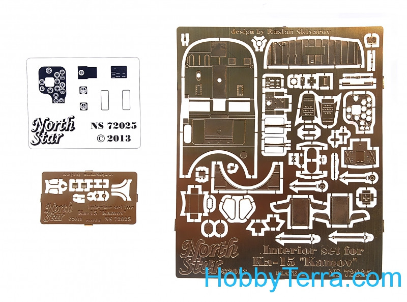Photo-etched set for Kamov Ka-15, interior set