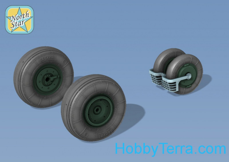 Wheels set 1/72 for MiG-29, no mask series