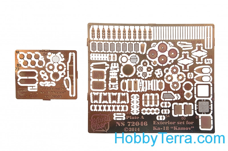 Photo-etched set for Ka-18 Hog