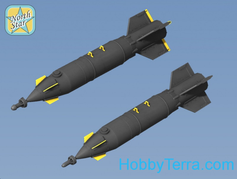 Set of two KAB-500L Laser Guided Bomb, resin, PE parts, decal