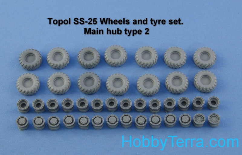Topol SS-25 Wheels and tyre set. Main hub Type 2