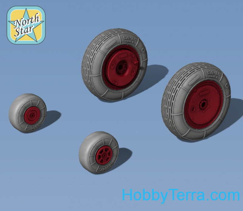 Wheels set 1/72 for Ka-26, no mask series