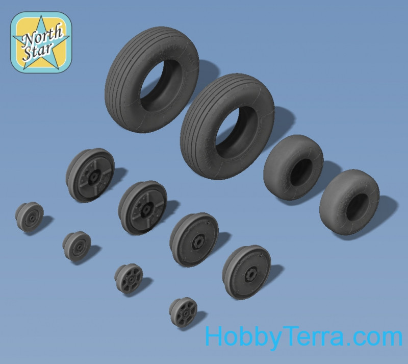 Wheels set 1/72 for Ka-15/Ka-18 No mask series
