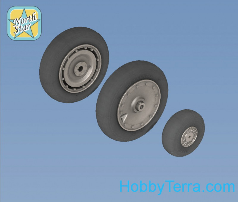 Northstar Models  72133-a Wheels set 1/72 for Fw.190, early No mask series