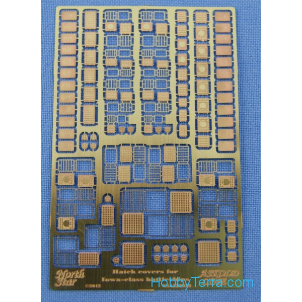 Photo-etched set 1/350 Hatch covers for Iowa-class battleships