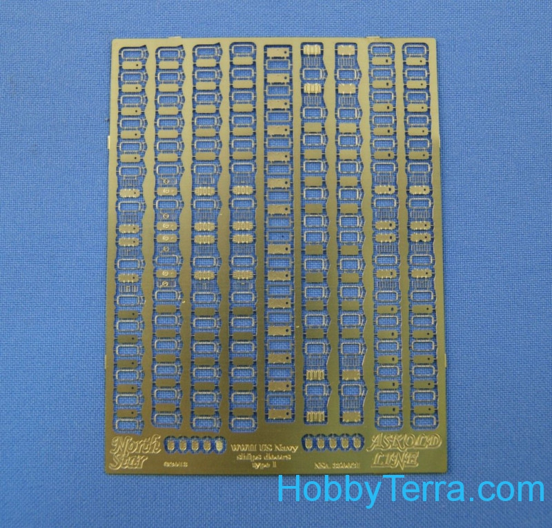 Photo-etched set 1/350 doors for USS ships, set 1