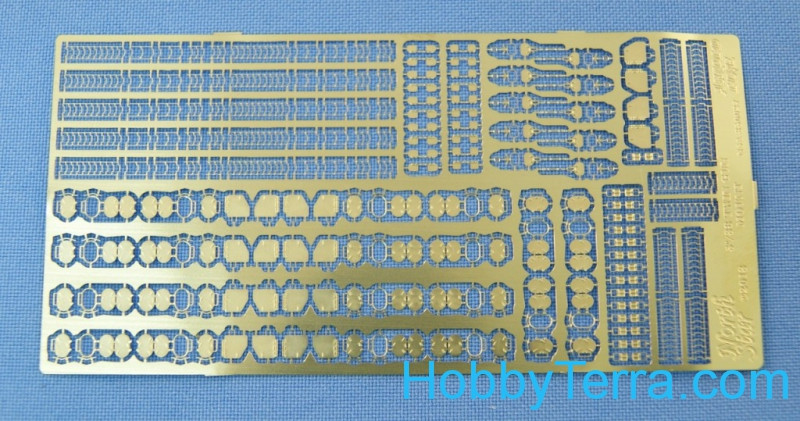 Photo-etched set 1/350 for 5'/38 (12.7cm) twin gun mounts