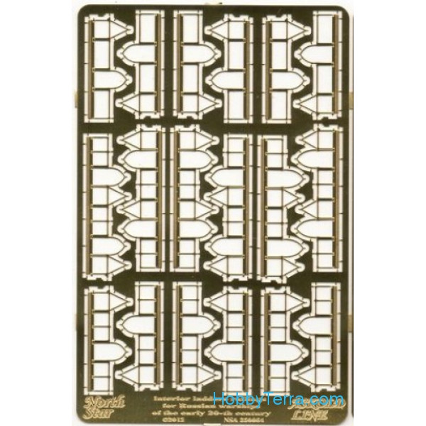 Photo-etched set 1/350 Interior ladders railing for Russian warships, early XX centtury