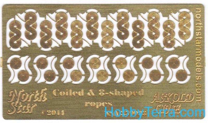 Photo-etched set 1/350 Coiled & 8-shaped ropes