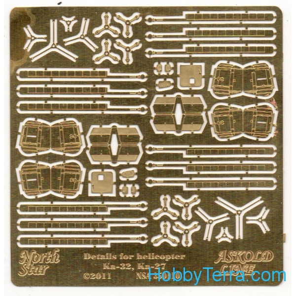 Photo-etched set 1/350 for Russian helicopters Ka-27, Ka-32