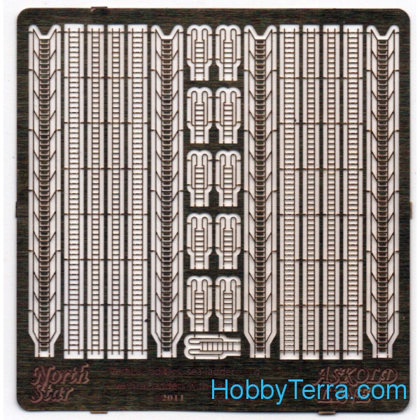 Photo-etched set 1/700 Vertical ladders, sea ladders and vertical ladders with handrails