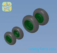 Wheels set 1/144 for Mi-8, Mi-17 Helicopters - No mask series