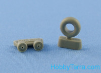"Wheels set 1/32 for Bf-109 F-2,G-2 (""Continental"" tires)"
