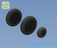 Wheels set 1/32 for Fw 190 A/F/G late disk with Dunlop early main tire (tread)