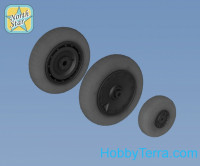 Wheels set 1/32 for Fw 190 A/F/G late disk with Continental late (smooth) main tire