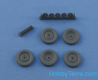 Wheels set 1/35 for MB V170 (WESA extra gelande military tires)