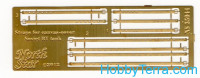 Photo-etched set 1/35 Straps for canvas-cover for Soviet BT tanks