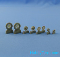 "Wheels set 1/48 Bf.109 B/C/E (early) (""Metzeler"" tires)"