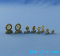 "Wheels set 1/48 Bf.109 F-2, F-4, G-2 (""Continental"" tires)"