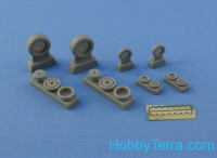 Wheels set 1/48 for F-4 C, D, E, F Phantom II No mask series