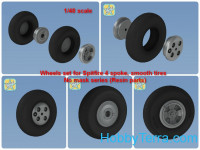 Wheels set 1/48 for Spitfire, no mask series