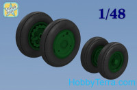 Wheels set 1/48 for Su-15 TM, no mask series