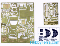 Photo-etched set 1/48 interior Bf109 F2/F4, for Zvezda kit