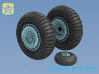 Wheels set 1/48 for Soviet WWII fighter La-5/F/FN, no mask series