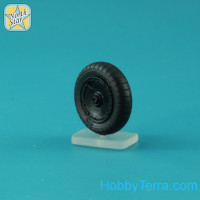 Wheels set 1/48 for Fw 190 A/F/G late disk with Dunlop early main tire (tread)