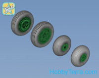 Wheels set 1/48 for Ka-27 / Ka-32 Soviet / Russian helicopter - Light series