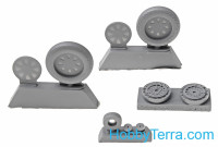 Wheels set 1/48 for Vought F4U Corsair - No mask series