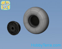 Wheels set 1/48 for Focke-Wulf 190 A/F/G early main disk (with hole) with late (smooth)
